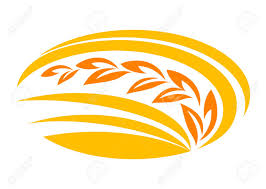 Wheat Cereal Symbol With Yellow And Orange Ears Suitable For