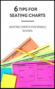 Making A Seating Chart For The Classroom Making Seating Charts Work In Middle School Maneuvering