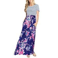 Amazon Com Maxi Dresses For Women Casual Summer Short