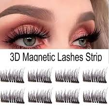 For com Best dual No Set - Beauty Lashes Eyelashes Natural Eyelashes Glue Reusable Magnetic False Fake Quality 8piece Premium Extensions 3d Look Amazon