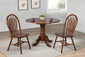 Sunset Trading 3 Piece 42 Round Drop Leaf Dining Set With Arrowback