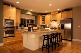 Kitchen L Shaped Kitchen Design With Maple Shaker Kitchen Cabinet