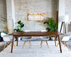 mid century modern dining table. Mid Century Dining Table, Modern Walnut Table E