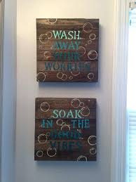 plaques glamorous bathroom wall and signs design surprising rustic kids bathroom signs