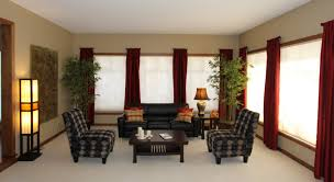 Plaid Curtains For Living Room Romantic Red Window Curtains Decorating Brown Zen Living Room With