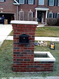 brick mailbox flag.  Brick Brick Mailbox Flag Designs For Home Depot    In Brick Mailbox Flag