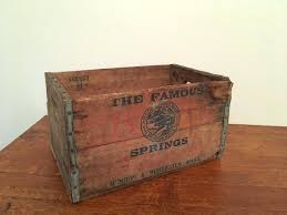 vintage wooden beer crates uk wood crate famous springs antique