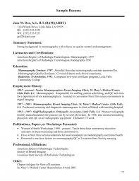 Sample Resume For Medical Technologist Resume Big Sample Resume