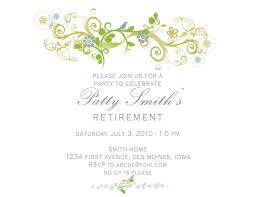 retirement invitation template com
