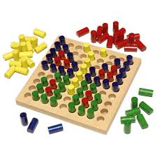 Wooden Board Game With Pegs Color Peg Color Pictures HABA USA 100