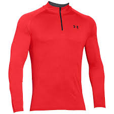 under armour 1242220. under armour tech 1/4 zip rocket red - front 1242220 h