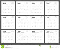 Sundays Only Calendar 2017 2018 Calendar Planner Design Stock Illustration