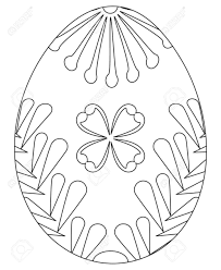 Black And White Easter Egg Poster Coloring Book Page For Adults