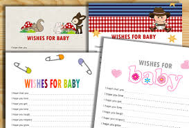 Wishes For Baby Template Free Printable Wishes For Baby Cards
