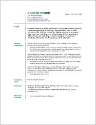 Free Resume Builder For College Students Resume Resume Examples