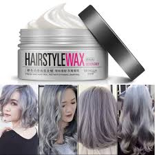details about uni temporary modeling gray silver diy hair color wax mud dye cream sx