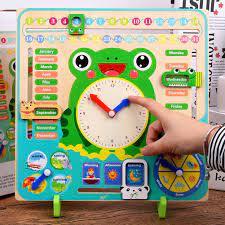 Trẻ em Đầu Giáo Dục Đồ Chơi Bằng Gỗ Lịch Đồng Hồ Đồ Chơi Xếp Hình Thời Tiết  Mùa Thời Gian Nhận Thức Mầm Non Giảng Montessori Đồ Chơi|Lịch & Thời Gian