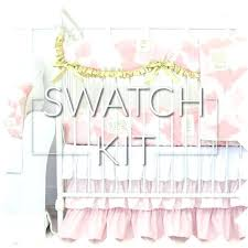 starry blush watercolor baby bedding swatch kit pink and gold crib