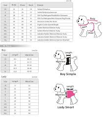 Pet Clothes Size Chart Pet Products Pet Clothes Pet Apparel Pet Bed Pet Bag Pet