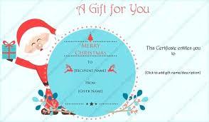 Christmas Gift Certificates Templates Puebladigital Net
