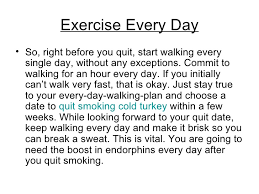 start exercising daily before you quit smoking 10