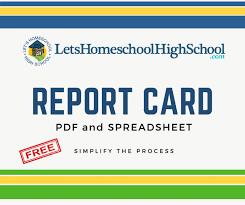 Sample Homeschool High School Report Card Piercejr Com