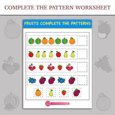 Complete The Patterns worksheet | Inky Treasure