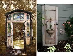 fabulous old door garden decor outdoor decor repurposing old doors interiorholic outdoor