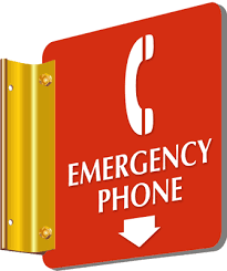 Emergency Phone 2 Sided Sign With Down Arrow Sku Se 5368