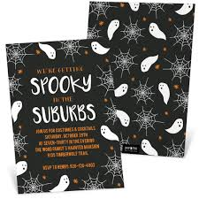 Halloween Invitations Cards Spooky In The Suburbs Halloween Invitation Pear Tree