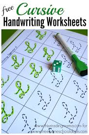 Free Cursive Handwriting Worksheets Instant Download