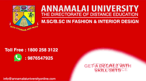 Distance Education In Fashion Designing Annamalai University Fashion Design Degree Course For Home Makers Working Professionals
