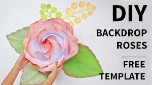 Free Paper Flower Templates Printable Free Template How To Make Large Giant Paper Rose Youtube