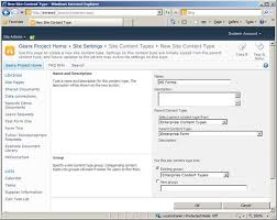 Form Library Sharepoint 2010 Using Infopath 2010 With Sharepoint 2010 Content Types