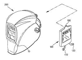 Patent us20060185052 welding helmet having cartridge coupling welding clothing save your phace welding helmets