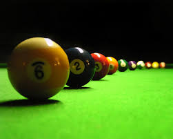 Wallpaper Billiards Table Spheres Number Cloth Pool HD Picture