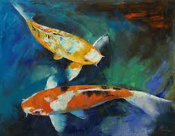 sanke painting sanke koi painting by michael creese