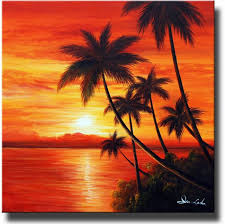 classic sunrise is an original hand painted beach canvas painting canvas paintings offers premium beach canvas art at s