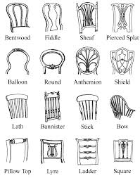 furniture style guide. Tremendous Dining Chair Styles Furniture Period Pictures Backs Illustrations By Style Guide R