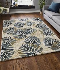 tropics rugs 6097 cream blue