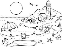 Small Picture Landscapes Beach Landscapes with Lighthouse Coloring Pages