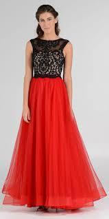 Embroidered Top Layered Mesh Skirt Sleeveless Black White Ball