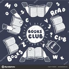 vector cartoon ilration of reading club open books in human hands and letters on table with hands top view vector ilration