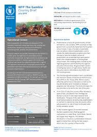 Wfp Organization Chart Wfp The Gambia Country Brief July 2018 Gambia Reliefweb