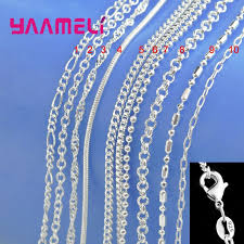big promotion 100 authentic 925 sterling silver chain necklace with lobster clasps fit men women pendant 10 designs 16 30 inch zaxo