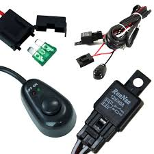 amazon com ijdmtoy (1) universal fit relay harness wire kit with Simple Fog Light Relay Wiring Diagram amazon com ijdmtoy (1) universal fit relay harness wire kit with led light on off switch for fog lights, driving lights, hid conversion kit or led work Fog Light Relay Kit