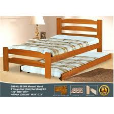 GREEN HOME SB 904 Single Bed Frame Only (Dirty Oak @ Without Pull Out Bed  ...