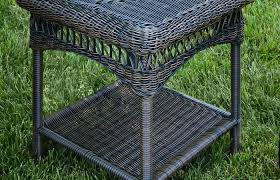 outdoor wicker table tortuga portside side modern patio and furniture medium size outdoor wicker table tortuga portside side wicker bistro dining wicker