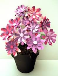 Paper Flower Pots A Pot Of Paper Daisies