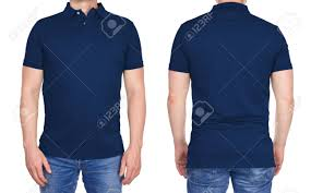 Blue Polo Shirt Design T Shirt Design Young Man In Blank Dark Blue Polo Shirt From
